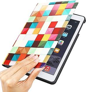 新型 iPad 9.7インチ ケース おしゃれ チェックデザイン 横開き ポップエネルギー(Pop Energy)ブック型柄 ipad 9.7 スマートカバー ケース 切り替え ipad 9.7 対応 (ipad 9.7 2017/2018年春...