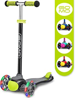 GOMO 3 Wheel Scooter - Toddler Scooter - Three Wheel Scooter for Kids 2, 3, 4 and 5 Years Old – Adjustable Height Kick Scooter w/Colors for Boys & Girls