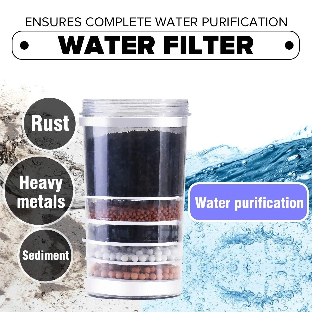 Filtro de Agua para Grifo Filtro purificador de agua superior del ...