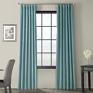 HPD Half Price Drapes VPCH-180106-84 Signature Blackout Velvet Curtain (1 Panel), 50 X 84, Skylark Blue