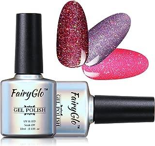 3 COLORS COMBO Gel Polish UV LED Neon Bling Shimmer Sensational Varnish Soak Off Lacquer Nail Art Gift Set Base Top 10ml 177 By FairyGlo