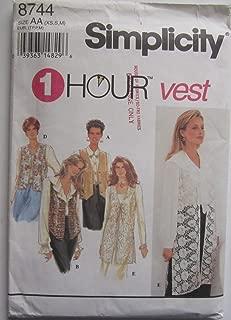 Simplicity Pattern 8744 ~ Misses' Set of Lined Vests ~ Sizes 6-16