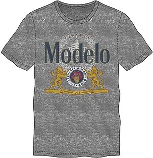 Modelo Beer Logo Men's Gray T-Shirt Tee Shirt