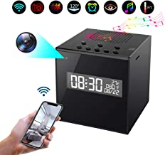 Kkeep Bluetooth Speaker Camera WiFi HD 1080P Camera Clock with Night Vision Wireless Stereo Speaker Motion Detection Display Temperature 12&24 Time Display (Surveillance Apps for iOS/Android/PC/Mac)
