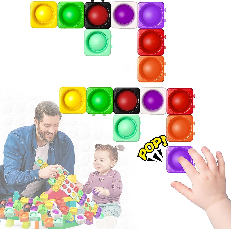Push Selling and selling Bubble Fidget Great interest Toys Building Pop Sen Blocks Set 16PCS