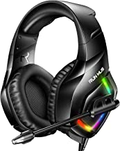 RUNMUS Gaming Headset PS4 Headset with 7.1 Surround Sound, Xbox One Headset with Noise Canceling Mic & RGB Light, Compatib...