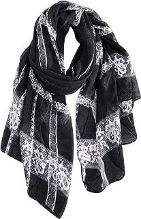 Lightweight Cotton Scarf Fashion Lace Designed Women Wrap Shawls