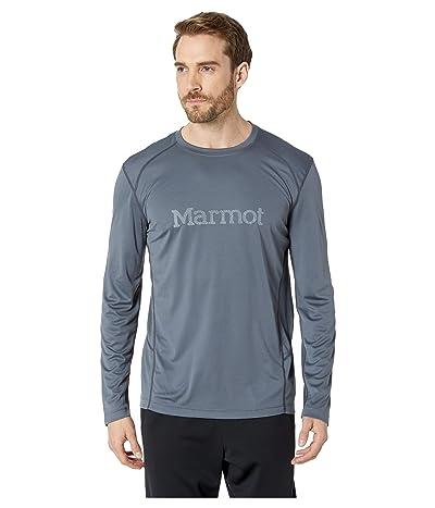 Marmot Windridge with Graphic Long Sleeve (Steel Onyx/Grey Storm) Men