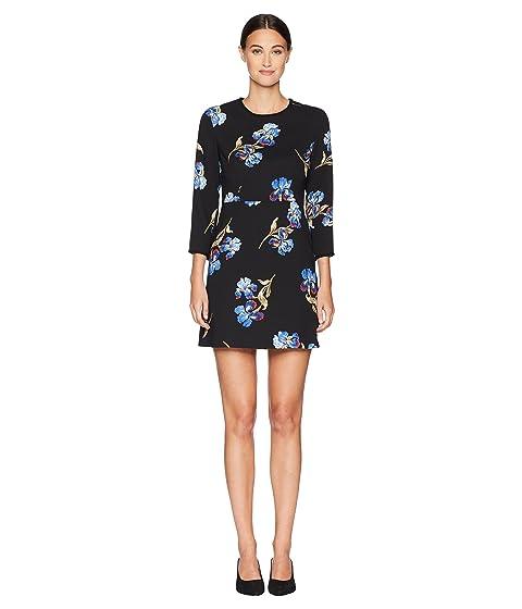 Sportmax Pentola Floral Long Sleeve Dress