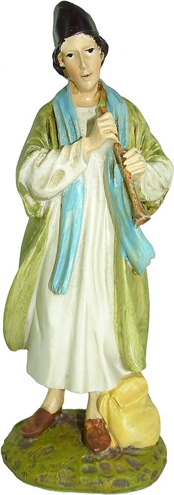 Ferrari & arrighetti,statuina per presepe : pastore con piffero,personaggio del presepe. 2412NA17