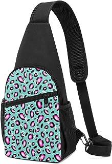 PGTry Space Leopard - Mochila bandolera ligera para el hombro, mochila para el pecho, bolsa cruzada, para viajes, senderis...