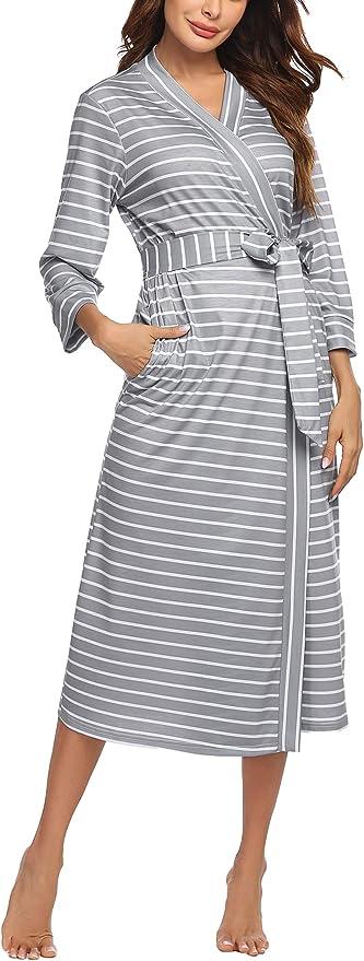 1266 opinioni per UNibelle Vestaglia e Kimono Lungo Donna Manica a 3/4 Scollo a V Accappatoio con