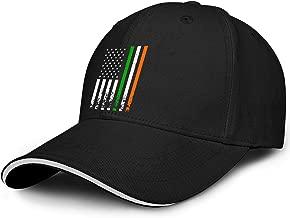 Ireland Flag American ST. Patrick's Day Mens Vintage Baseball Caps Custom Fashion Adjustable Ball Hats Classic Blank Trucker