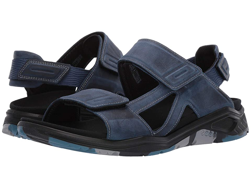 UPC 809704880600 product image for ECCO Sport X-Trinsic Leather Sandal (True Navy Yak Nubuck) Men's Sandals | upcitemdb.com