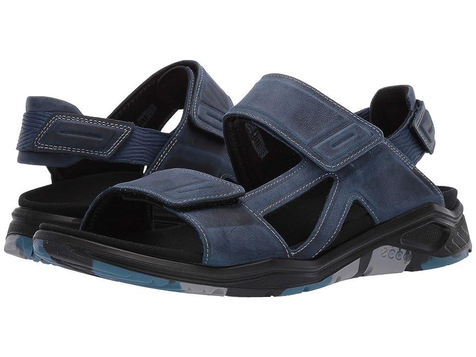 UPC 809704915746 product image for ECCO Sport X-Trinsic Leather Sandal (True Navy Yak Nubuck) Men's Sandals | upcitemdb.com