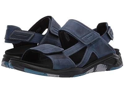 ECCO Sport X-Trinsic Leather Sandal (True Navy Yak Nubuck) Men
