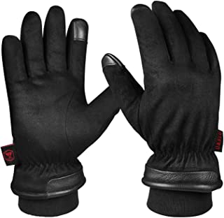 OZERO -30 ℉ Waterproof Winter Gloves Touchscreen Fingers for Driving, Motorcycle - Hands Warm in Cold Weather Thermal Gifts for Men