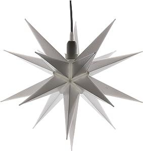 Cepewa 30188 stella bianco stella 3D 35 cm lampada finestra stella avvento Stella decorativa