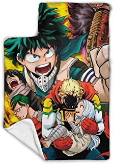 """Other1 Child's Sleeping Bag with Blanket and Pillow Inspired by My Hero Angry Anime Academia Comfortable Flannel Sleeping Cushion Child Nap Mat 43""""""""X21"""