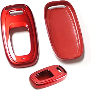 iJDMTOY (1 Exact Fit Gloss Metallic Red Smart Remote Key Fob Shell for Audi A3 A4 A5 A6 A7 A8 Q5 Q7, etc