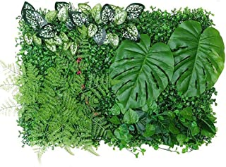 60x40cm Haie Artificielle Plante Verte Panneau de Mur Végétal Gazon Artificiel pour Mariage ou Decoration Interieure DIY P...