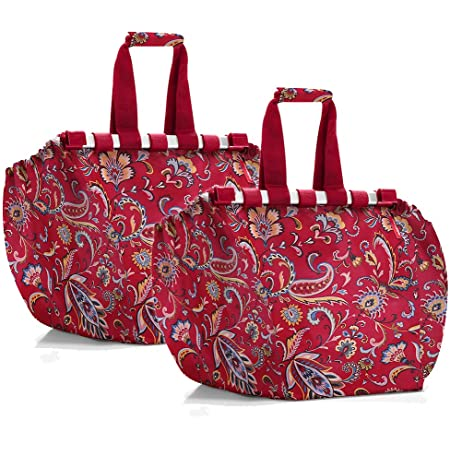 reisenthel easyshoppingbag 2tlg. Einkaufstasche Einkaufsbeutel shoppingbag easybag (Paisley Ruby + Paisley Ruby)