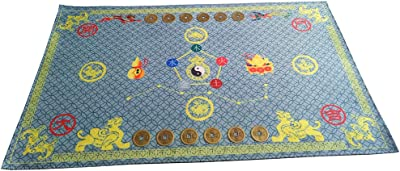 """Lucky Feng Shui Bagua Map Non Slip Door Mat 30""""x22"""" / Feng Shui Carpet Mat Household Items Blue"""