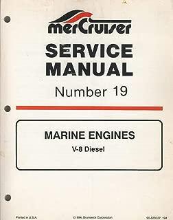 1995 MERCRUISER MARINE ENGINES V-8 DIESEL # 19 SERVICE MANUAL 90-823227 (873)