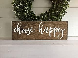 YYcharm Choose Happy, Choose Happy Sign, Happy Sign, Wood Sign, Wooden Sign, Wood Signs, Wooden Signs, Custom Wood Sign, Custom Sign