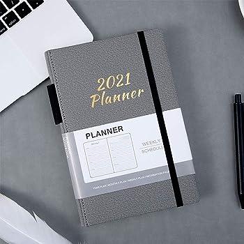 Agenda 2021, Plan Hebdomadaire, Livre Relié A5, Calendrier de L