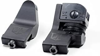 Ozark Armament 45 Degree Offset Backup Iron Sights for Railed Rifles Picatinny Mount
