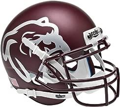 matte maroon football helmet