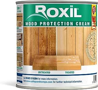 Roxil Holzschutzcreme - 10 Jahre Witterungsschutz und Hydrophobierung für Weichholz - Einfacher Holzzaun Schutz 1 Liter