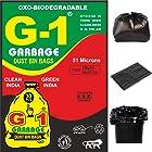 G 1 Premium OXO - Biodegradable Garbage Bags (Medium) Size 48 cm x 54 cm (150 Bags) (Black Colour)