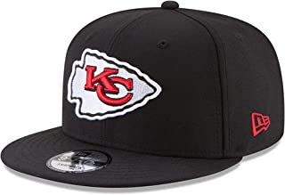 Authentic Kansas City Chiefs Black/Team Color Logo NFL 9Fifty Snapback Cap Hat - Black Regular Fit