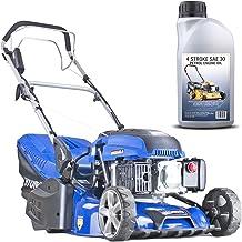 Hyundai 43cm Petrol Roller Lined Electric Start Lawnmower Self Propelled Lawn Mower 139cc, 430mm Cutting width large 45 Li...