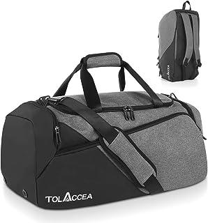 Tolaccea 47L Sporttasche Groß Sporttasche Rucksack mit Schuhfach Nassfach Wochen Reisetasche Duffel Bag Fitness Trainingst...