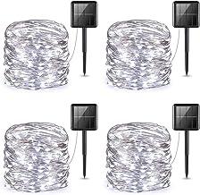 AMIR Upgraded Solar String Lights, 4 Pack 33ft 100 LED Outdoor String Lights, Waterproof 8 Lighting Modes Solar Decoration...