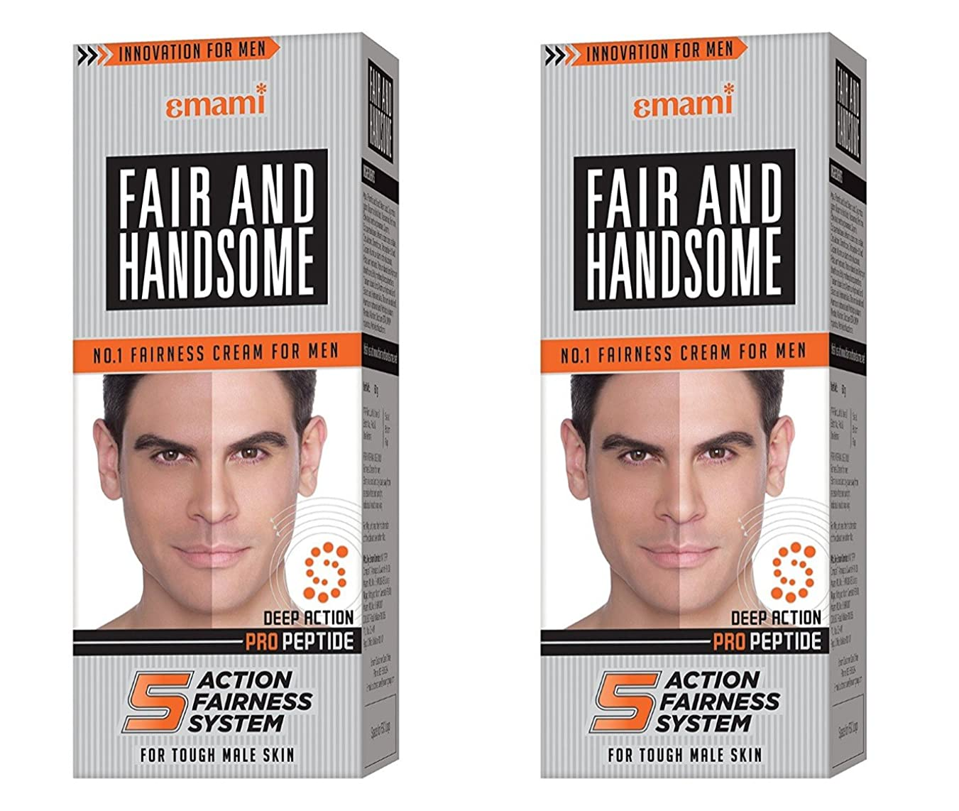見つける一時停止同一のFair and Handsome Fairness Cream for Men, 60gm (Pack of 2)