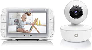 "Motorola MBP36XL Video Baby Monitor 5"" Color Parent Unit, Remote Pan/Tilt/Zoom, Portable Rechargeable Camera, Two-Way Audi..."