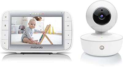 """Motorola Video Baby Monitor 5"""" Color Parent Unit, Remote Pan/Tilt/Zoom, Portable Rechargeable Camera, Two-Way Audio, Night..."""