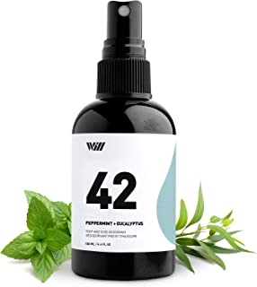42 Foot and Shoe Deodorant, Essential Oil-Based Mist, All-Natural Ingredients Feet and Shoe Deodorizing Spray (Peppermint, Eucalyptus, Thyme Essential Oils, 100% Natural Coffee Extract) – Way of Will