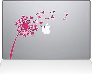 "The Decal Guru 2045-MAC-13A-BG Dandelion Hearts Decal Vinyl Sticker, 13"" Macbook Air, Pink"