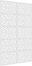 """Lchen Hanging Room Divider,10 Pieces Wood-Plastic Hanging Panels 0.2""""Thick Screen Panel for Living Room Bedroom Home Decoration(SG,11.4""""X11.4"""")"""