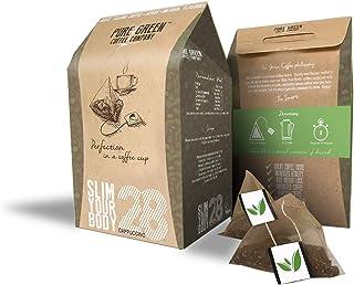 Pure Green Skinny Coffee - Programa de detoxificación-28 días. Ayuda con pérdida de peso y quema de grasa. Supresor natura...