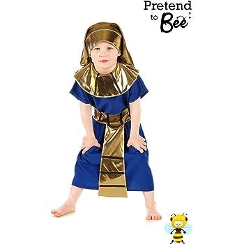 Boys Toys - Disfraz de faraón egipcio para niño, talla 5-7 años ...