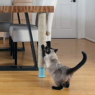 Primetime Petz Hauspanther Scratch Pole Deluxe - Adjustable Under-Table Cat Scratcher, Full Seagrass