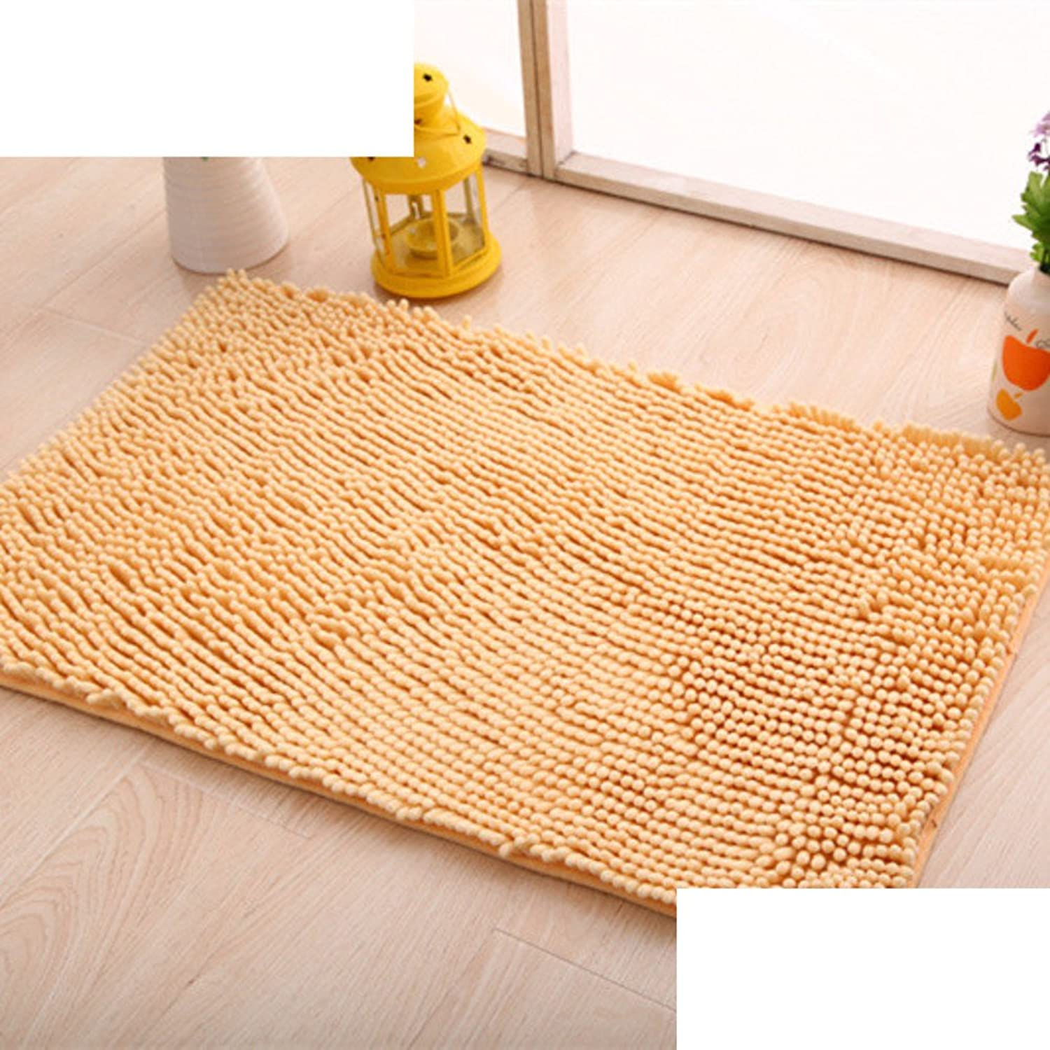 Chenille mat bathroom Bathroom Water-absorption anti-slip door mat floor mats for bedroom -F 50x160cm(20x63inch)