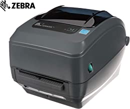 Zebra - GX420t Thermal Transfer Desktop Printer for Labels, Receipts, Barcodes, Tags, and Wrist Bands - Print Width of 4 in - USB, Serial, and Ethernet Port Connectivity (Includes Cutter)