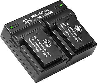BM Premium 2-Pack of LP-E12 Batteries and USB Dual Battery Charger for Canon EOS-M, EOS M2, EOS M10, EOS M50, EOS M50 Mark II, EOS M100, EOS M200, SX70 HS, Rebel SL1 Digital Cameras